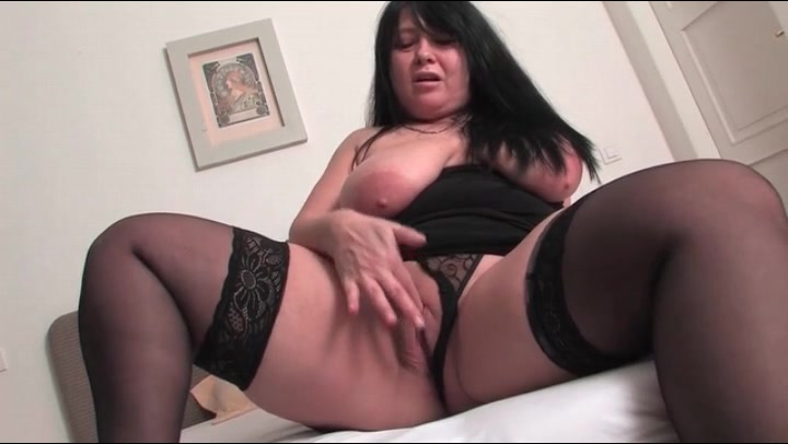 mature stockings Fat black