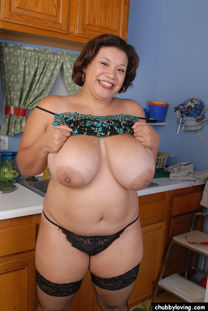 Nude granny with big tits