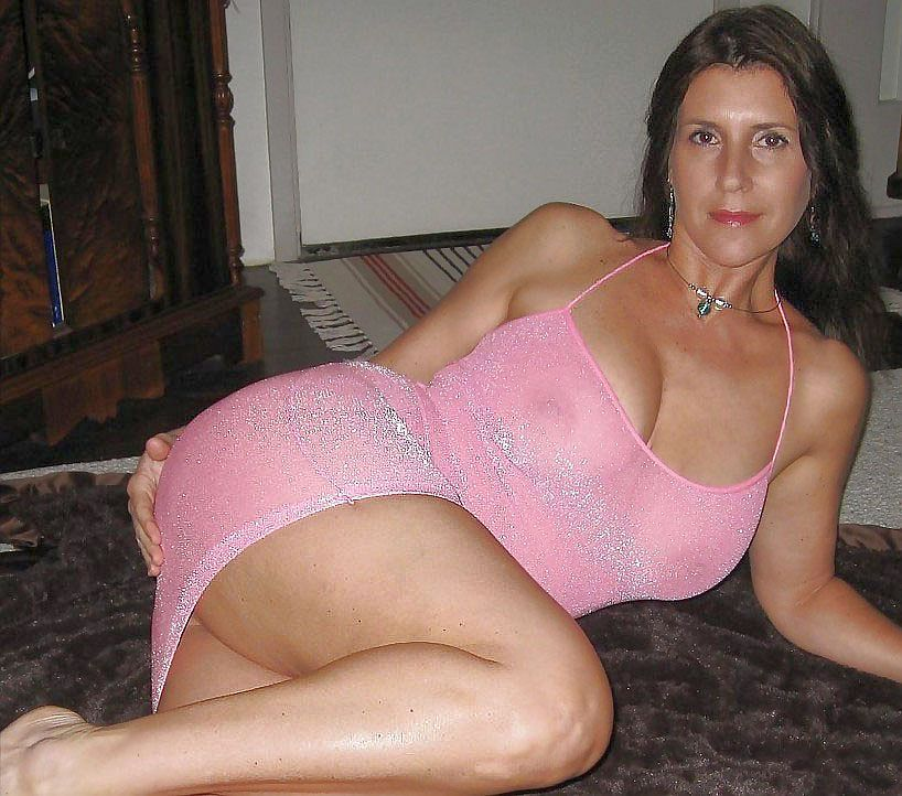 Hot milf spreading legs in underwear