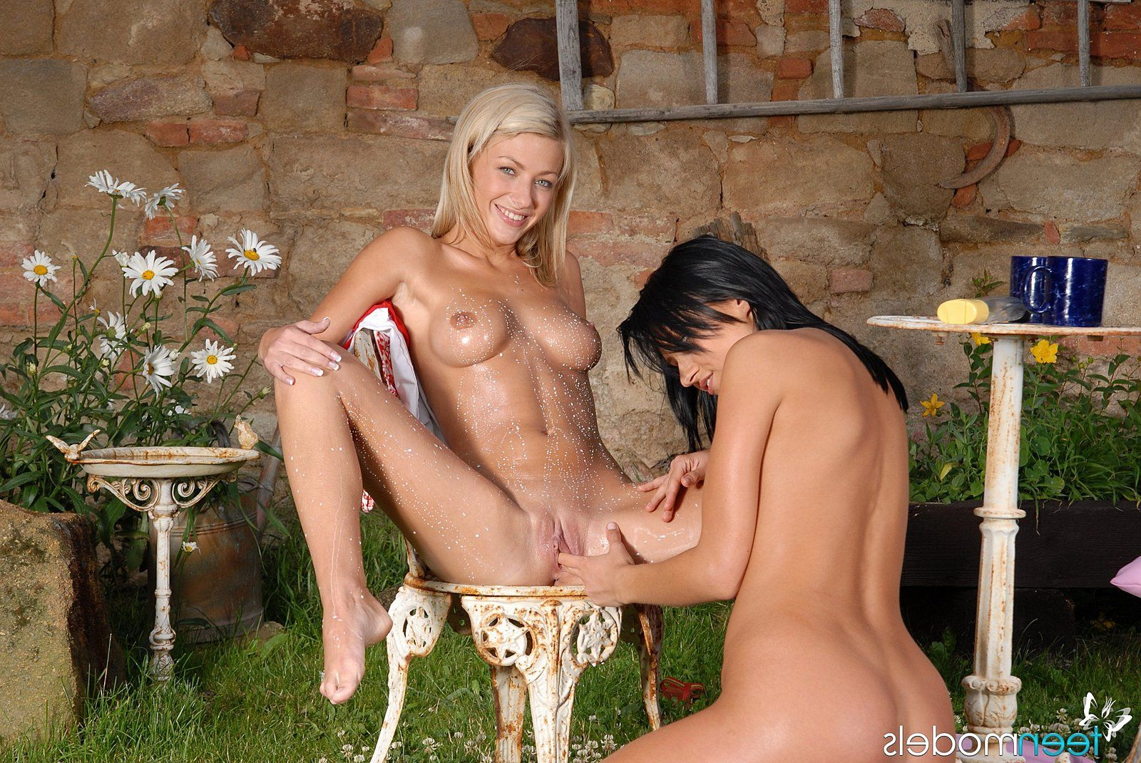 Blonde girl sex with dog